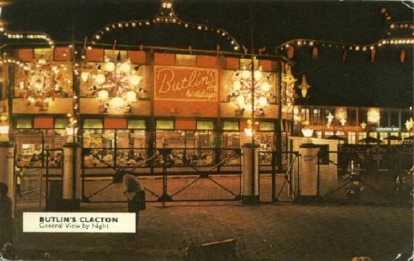 BUTLINS CLACTON postcards at Redcoats Reunited 2