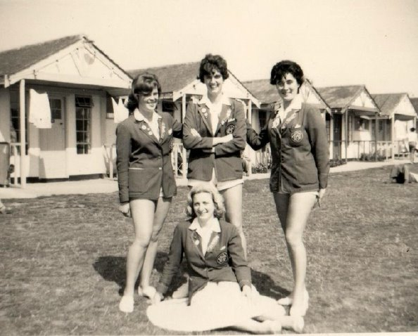 Butlins Clacton 1962 4 Redcoat girls at Redcoats Reunited