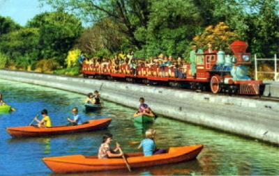 BUTLINS FILEY BOATING LAKE and TRAIN 1982