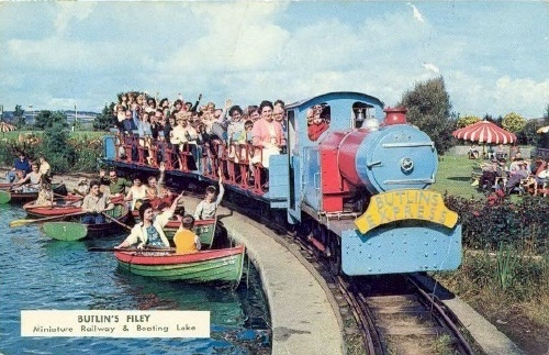 BUTLINS FILEY BOATING LAKE and TRAIN