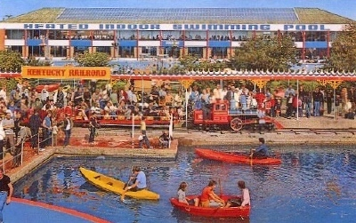BUTLINS FILEY BOATING LAKE and TRAIN 1980s